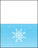 Blue and Snowflake Cards