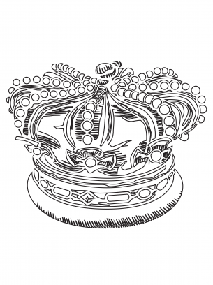 royal crown coloring pages paper
