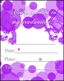Purple Dot Graduation Invitations