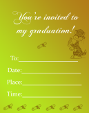 Yellow Graduation Invitations
