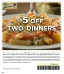 Olive Garden Coupons 5 Off