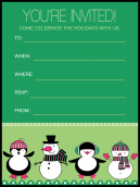 Penguins Holiday Party Invitation