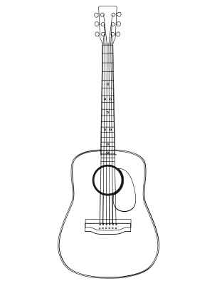 printable coloring pages guitar - photo#30