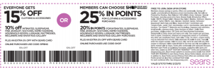 Sears Coupons 15 Off