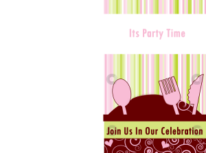 Dinner Party Invitation Card
