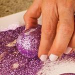 Adding Glitter to easter eggs